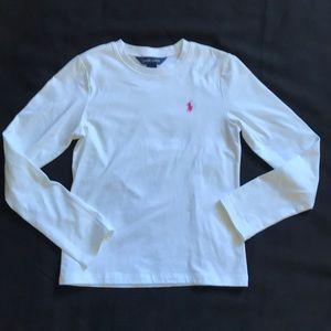 Polo Ralph Lauren long sleeve white shirt 8-10